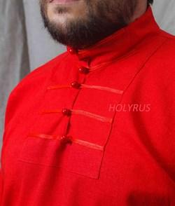 Рубаха Holyrus Иван Грозный красная - застежка и пуговицы крупно