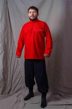 Рубаха Holyrus Иван Грозный красная - в полный рост спереди