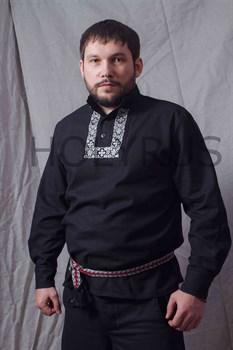 Рубаха Holyrus Православная с манжетами и вышивкой - вид спереди